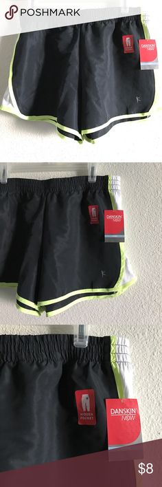 NWT Danskin Now Gym Shorts Size Large 💛NWT Danskin Now Gym Shorts💛  💛Size L💛  💛Never Worn💛 💛Fabric: 100% Polyester💛 💛Color: Black and Neon yellow with white on side💛 💛Has small pocket on inside💛 💛NO Rips, Dirt marks SMOKE FREE HOME💛 Danskin Now Other