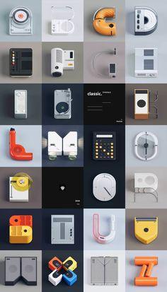 L'alfabeto che nasce dal design di Dieter Rams per Braun Web Design, Retro Design, Yanko Design, Type Design, Logo Design, Dieter Rams Design, Braun Dieter Rams, Alphabet, Poster Layout