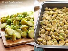 Varza de Bruxelles gratinata-asezare in tava Healthy Recipes, Healthy Food, Sprouts, Beans, Food And Drink, Vegetables, Brussels, Clean Foods, Health