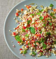 Cauliflower 'couscous' with chilli, sesame & mint | News | Lorraine Pascale
