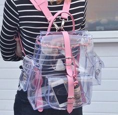 completely clear knapsack!! :) <3