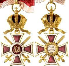 Leopold Order, Commanders' Cross, with golden swords, Firma Rothe & Neffe, Vienna.