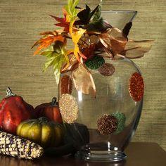 Beads of Autumn Vase