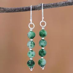 Buy Quartz dangle earrings, 'Happy Delight in Green' today. Shop unique, award-winning Artisan treasures by UNICEF Market. Beaded Earrings, Beaded Jewelry, Charity Gifts, Jewelry Crafts, Jewelry Ideas, Jewelry Packaging, Online Gifts, Dangles, Artisan