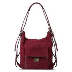 Nico Louise Women Real Split Suede Leather Shoulder Bag 0aeec5e74e654
