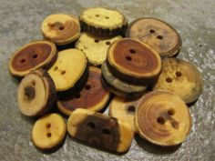 Wooden Button Grab Bag. 16 Buttons. by PymatuningCrafts on Etsy, $10.40