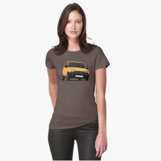 Classic Renault 5 from 80's.   #renault #renault5 #renaultr5 #tshirt #shirt #classiccars #illustration #carillustration #french #france #knappi #yellow