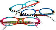 Ronit Furst Eyeglass Collection, hand painted by Ronit Furst and her staff of talented artists.