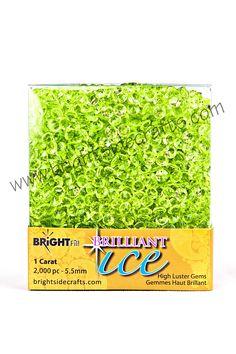 Brilliant Ice Peridot Light Green. www.brightsidecrafts.com