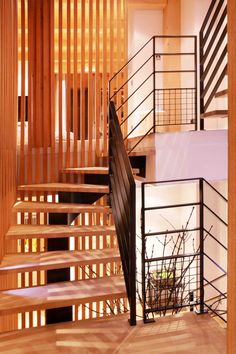 Bois, fer & Design Stairs, Design, Home Decor, Mountain, Iron, Places, Woodwind Instrument, Stairway, Decoration Home