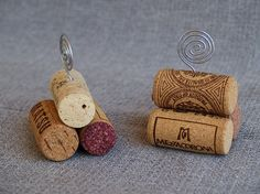 Wine cork place card holders                                                                                                                                                                                 More