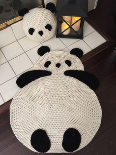 Panda Rug by PeanutButterDynamite on Etsy