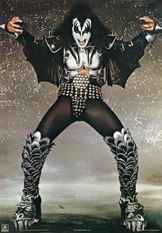 Rare Vintage Concert Poster KISS Gene Simmons Printed in England 1982 Rock N Roll, Rock And Roll Bands, Kiss Rock Bands, Kiss Band, Eric Singer, Kiss Costume, Gene Simmons Kiss, Rap, Eric Carr