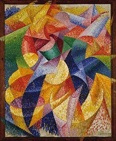 Gino Severini - Sea=Dancer (from the Peggy Guggenheim Museum) Peggy Guggenheim, Italian Painters, Italian Artist, Gino Severini, Giacomo Balla, Italian Futurism, Futurism Art, Oil Canvas, Sonia Delaunay