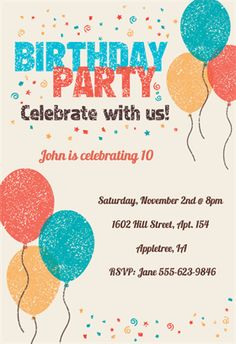 Free printable birthday invitations for kids freeprintables free printable birthday invitation templates for kids adults and everyone in between these invites look so good no one will believe theyre free filmwisefo