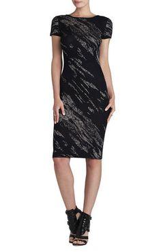 550506df3 BCBGMAXAZRIA Jackee Crackled-Jacquard Dress Bcbgmaxazria Dresses