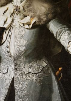 Georg Engelhardt Schröder. Detail from Portrait of Fredrik I, King of Sweden, 18th Century.
