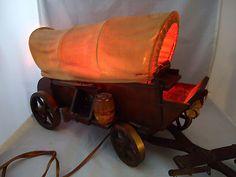 Vintage Cactus Covered Wagon Lamp Western. $32.00, via Etsy ...