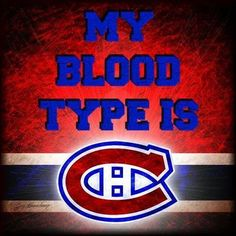 My blood type is. Hockey Memes, Hockey Quotes, Hockey Goalie, Ice Hockey, Hockey Pictures, Sports Pictures, Montreal Canadiens, Canadian Army, Humor