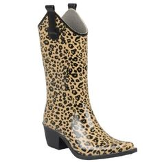 Amazon.com: Hailey Jeans Co Womens Leopard Print Cowboy Rainboots
