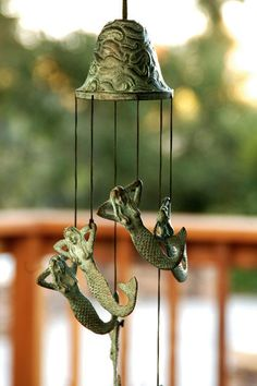 This stunning Mermaid Wind Chime will bring a unique and artistic addition to your garden or outdoor space. Description from dolphins-unlimited.com. I searched for this on bing.com/images