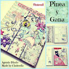 ¡Pinea y Gana! ¿Quieres conseguir esta preciosa agenda scrapbook hecha a mano, made by Cinderella? Pues Pinea esta foto y entra a formar parte del sorteo (plazo hasta el viernes 31 de Mayo, inclusive). ¿Quieres ver cómo es esta agenda al completo? Pues pincha en el siguiente enlace: http://cinderellatmidnight.com/2013/05/26/pinea-y-gana-aqui-mi-pin-it-to-win-it-gana-esta-preciosa-agenda-made-by-cinderella/