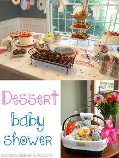 dessert baby shower