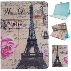 XX Classic butterfly Tower  PU leather Case for apple ipad Air 1 Air1 ipad5 ipad 5 Tablet PC  With tpu back cover