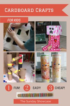 Fantastic kids crafts made from card