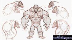 Venom figure concept art
