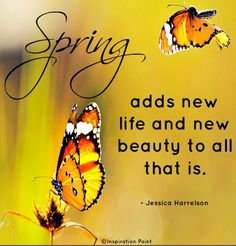 Spring quote via Inspiration Point on Facebook