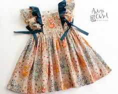 Frocks For Girls, Little Girl Outfits, Little Girl Dresses, Kids Outfits, Girls Frock Design, Baby Dress Design, Kids Dress Wear, Kids Gown, Baby Frocks Designs