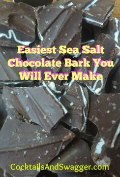Easiest Sea Salt Chocolate Bark You Will Ever Make.  Pumpkin Spice Chocolate Bark with Sea Salt.  Amazingly simple recipe.