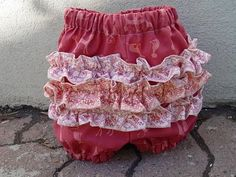 Ruffle butt baby bloomers to go with those pillowcase dresses!!