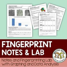 Fingerprinting lab - graphing and data analysis More