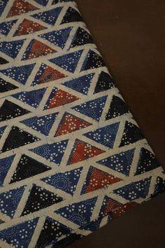 Ajrak Fabric - Buy Ajrak Print Fabrics Online - Matkatus – matkatus Peacock Pattern, Green Pattern, Star Patterns, Textile Patterns, Textiles, Cotton Silk Fabric, Kantha Stitch, Colorful Wallpaper, Cotton Pants