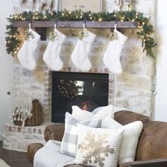 House of Walker Gray ( Christmas Mantles, Christmas Stockings, Photo And Video, Gray, Holiday Decor, Videos, Photos, House, Instagram