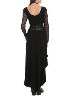 Royal Bones By Tripp Black Lace Sleeve Salem Dress,