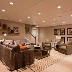 Bead Board Ceiling Basement Design Ideas, Pictures, Remodel And Decor