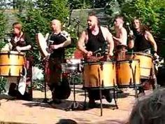 "Albannach, Gàidhlig for ""Scottish"" or ""Scotsman"", is a Scottish music band. Their traditional warlike tribal music is heavily percussive, driven by bass drums, bodhráns, and bagpipes. http://www.christinesparks.com"