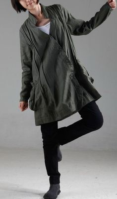 KL006T Your idea/Womens Clothing Womens Jacket Long Sleeve Jacket Plus Size Jacket Warm Jacket Petite Jacket Green Winter Jacket Outerwear on Etsy, $89.99