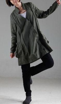 KL006T Your idea/Womens Clothing Womens Jacket Long Sleeve Jacket Plus Size Jacket Warm Jacket Petite Jacket Green Winter Jacket Outerwear