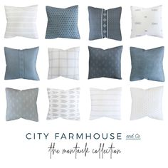 I'm so excited to share my new favorite pillows - the Montauk Pillow Collection by City Farmhouse and Co. You will love the gorgeous coastal linen pillows. City Farmhouse, French Country Farmhouse, French Country Decorating, Modern City, Mid-century Modern, Rustic Modern, Wing City, Have A Happy Day, Coastal Style