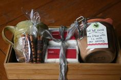 small measures: hot chocolate gift basket | Design*Sponge (it has recipes for a Spicy Hot Cocoa Mix and Hedonistic Hot Cocoa Mix)