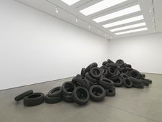 Damián Ortega 'Congo River' 2012 tyres and salt Damian Ortega, Congo River, Institute Of Contemporary Art, Contemporary Sculpture, Tire Art, Culture Art, Consumer Culture, Artistic Installation, Work Today