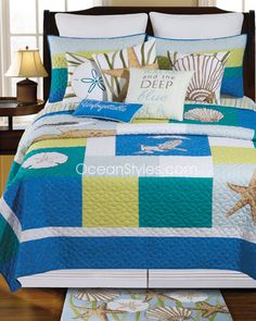 Blue Oasis Bedding