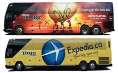 Airport Express Bus Wrap Designs