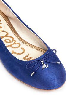 cb7495b69f9bb  Felicia  textured satin ballet flats