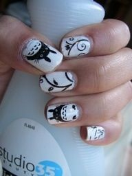 Studio Ghibli Totoro nails!