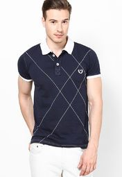 978c21ea Buy andrew Hill Navy Blue Solid Polo T-Shirts Online - 3728723 - Jabong